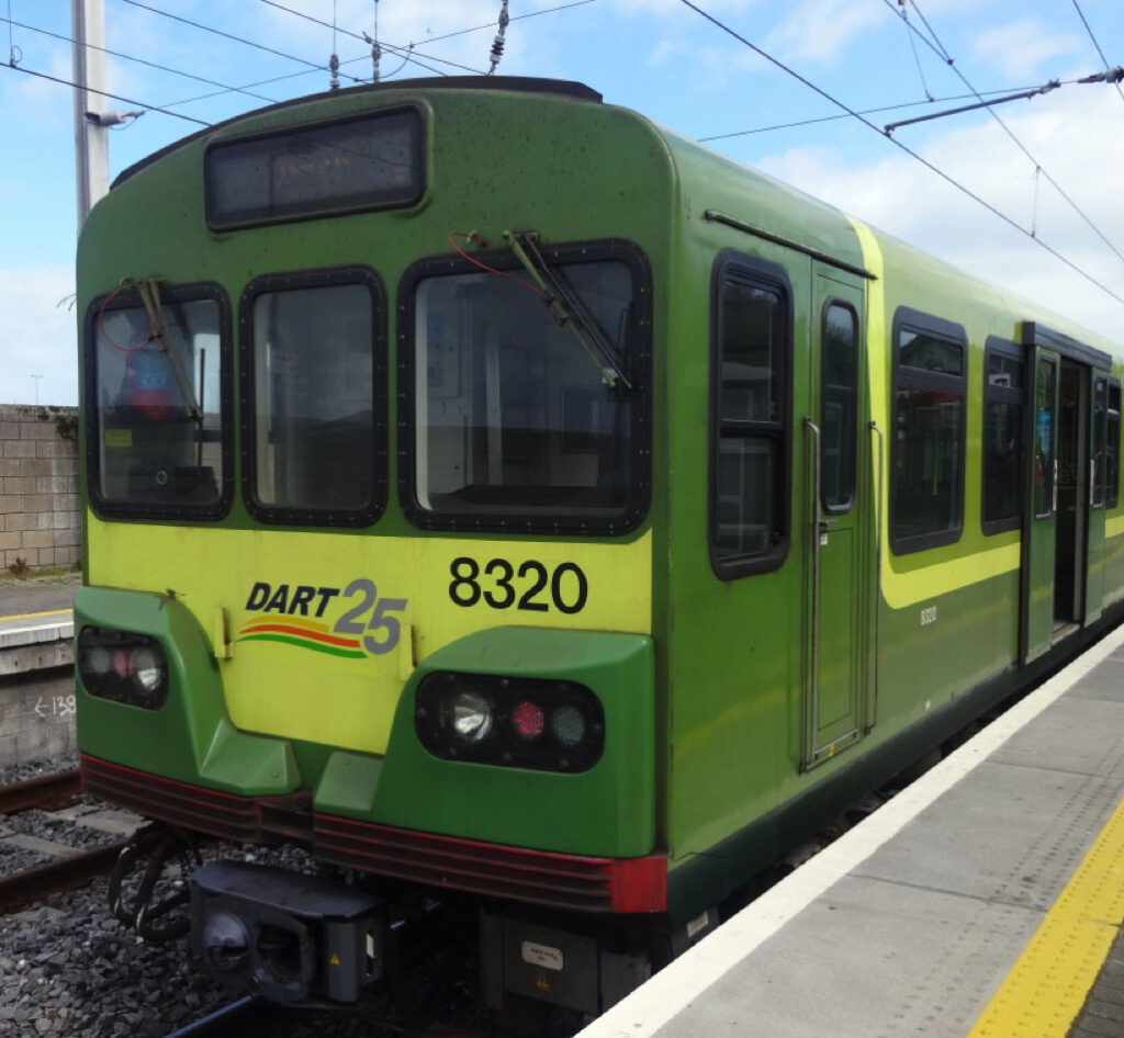 Photo from the front of a train of the Siemens (LHB) Dart Drivers Cab with window